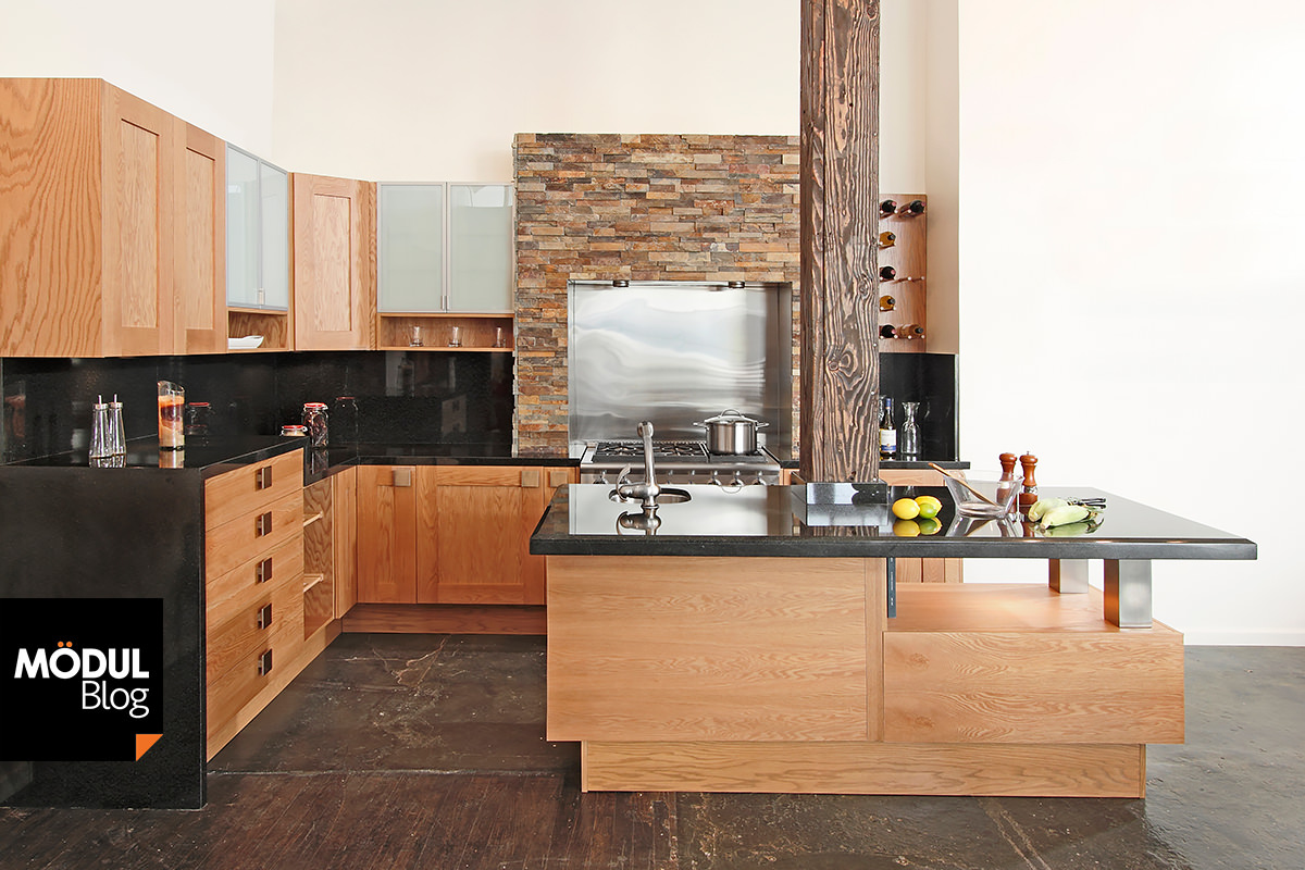 Muebles de cocina con piedra negra - Cocinas de madera modernas ...