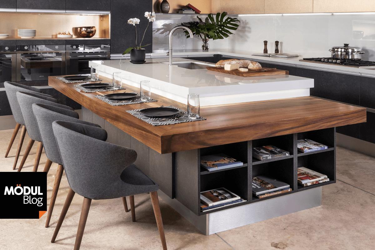 Negro mate y madera tendencia en cocinas integrales for Catalogo de cocinas integrales de madera
